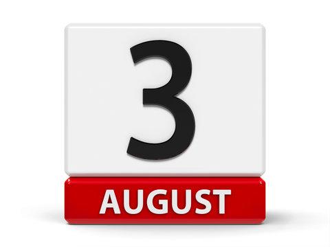 Cubes calendar 3rd August