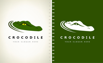 Crocodile logo vector. Alligator design illustration.