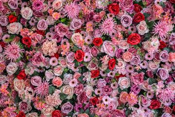 Vintage style rose bouquet background.