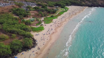 Fototapete - Aerial view of the Hapuna Beach, west coast of the Big Island, Hawaii