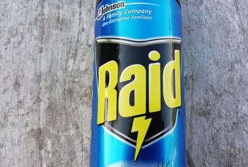 raid , de jonhson,bombe insecticide