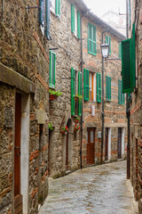 City Alley in a picturesque Italian town