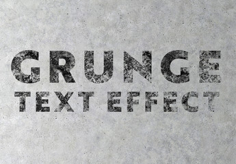 Concrete Grunge Text Effect Mockup