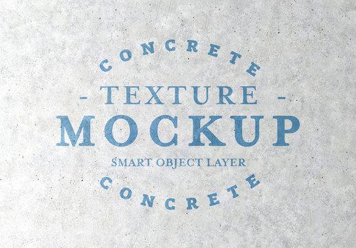 Concrete Texture Mockup