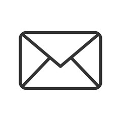 vector mail icon on white background