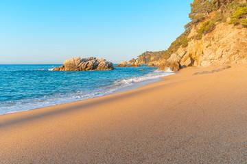 Fototapete - Sand beach. Clean seashore.