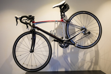 Aluminium Prints Bicycle Bicycle hanged on wall