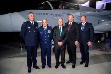 Ceremony of handing the first Saab Gripen E fighter over to Brazil, in Linkoping
