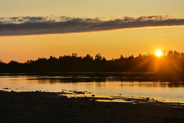 Sunset on the North river.