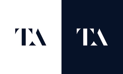 Abstract letter TA logo. This logo icon incorporate with abstract shape in the creative way.
