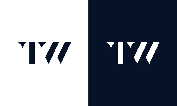 Abstract letter TW logo. This logo icon incorporate with abstract shape in the creative way.