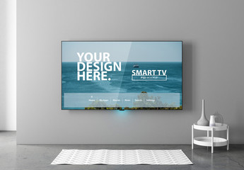 Smart TV Mockup in Interior