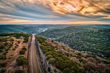 Deurstickers Texas Texas Hill Country Sunset