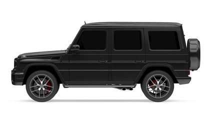 Black SUV Car Isolated
