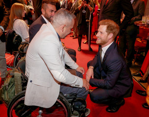 Britain's Prince Harry attends a reception to celebrate 5th anniversary of the Invictus Games