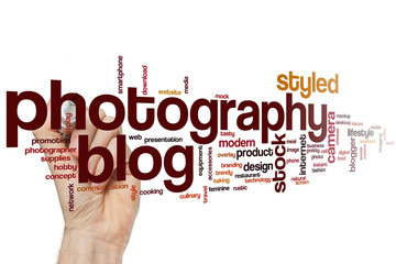 Photography blog word cloud