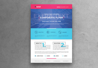 Minimal Corporate Flyer Layout