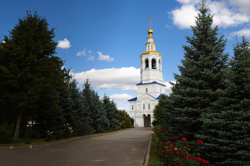 Gate bell tower with the Church of St. Michael the Archangel, Kazan.
