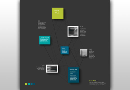Image Timeline Info Chart Layout