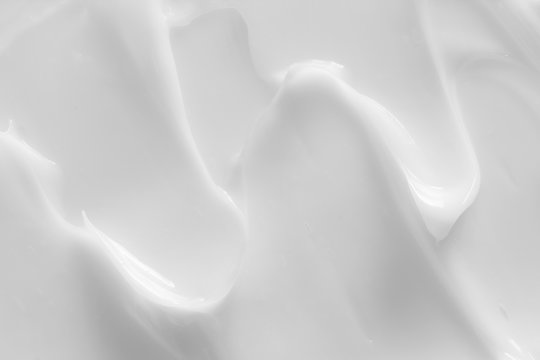 Cosmetic lotion background. White cream, moisturizer, creamy skin care product texture