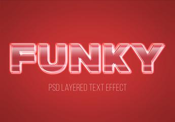 Layered Lit Glass Text Effect Mockup