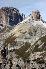Poster Eagle Wanderung im Herbst rund um die Drei Zinnen mit schöner Bergkulisse zur Drei Zinnen Hütte in den Dolomiten in Südtirol Italien 5