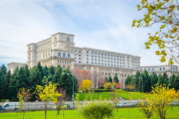 The Palace of the Parliament in Bucharest, Romania.