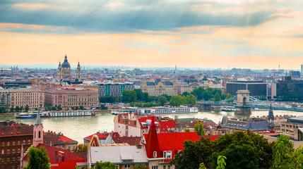 Beautiful panoramic view of Budapest , Hungary