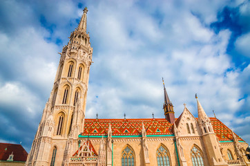 St. Matthias Church in Fisherman Bastion in Budapest, Hungary