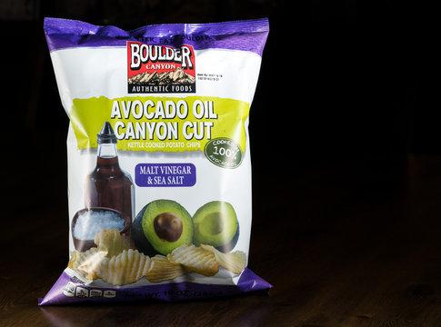 Boulder Canyon bag of Malt Vinegar and Salt chips