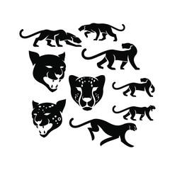 cheetah logo icon designs vector