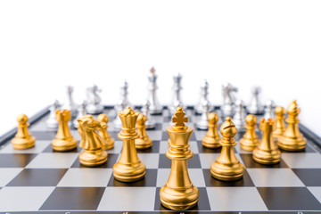chess board game in competition play, Ideas business success concept