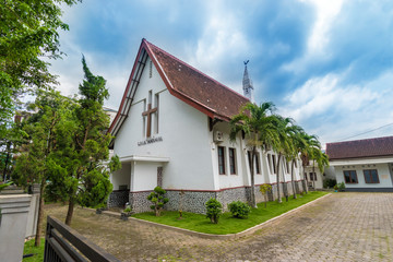 Dutch heritage church that has been used since 1934 in the small town of Bondowoso