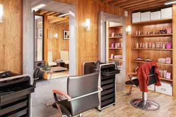 Modern Barbershop Design - 3d visualization