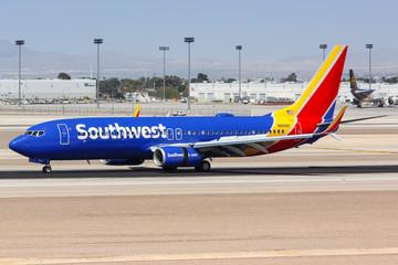 Southwest Airlines Boeing 737-800 airplane Las Vegas airport