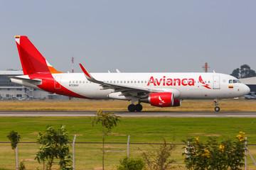 Avianca Airbus A320 airplane Bogota airport