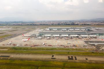 Bogota Airport BOG Terminal aerial view
