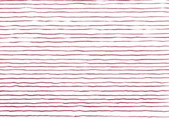 筆の縞_赤