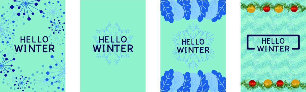 abstract winter background a4 format flyer