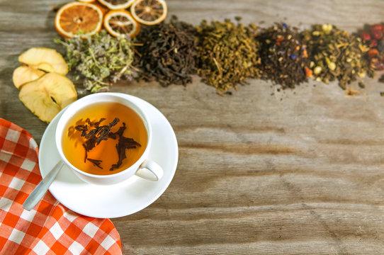 Tea ceremony with different type of tea