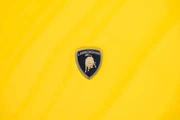 BUCHAREST, ROMANIA - APRIL 25, 2015: From 1963 Automobili Lamborghini is an Italian brand and manufacturer of luxury sports cars.