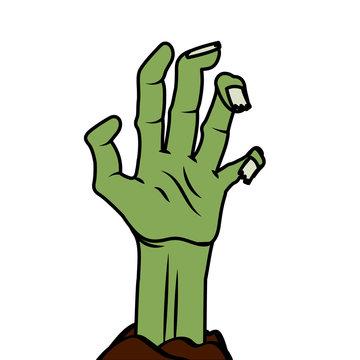 Halloween zombie hand vector design