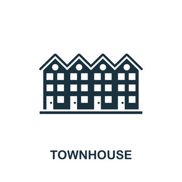 Townhouse vector icon symbol. Creative sign from buildings icons collection. Filled flat Townhouse icon for computer and mobile