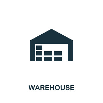 Warehouse vector icon symbol. Creative sign from buildings icons collection. Filled flat Warehouse icon for computer and mobile
