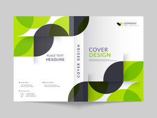 Cover design or template layout of business annual report, magazine, flyer mockup.