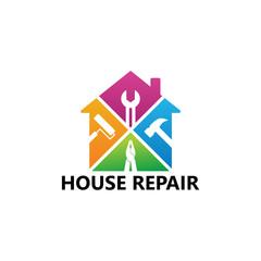 House Repair Logo Template Design