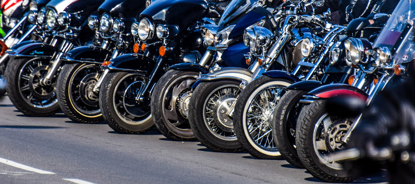 Motorcycle rims in the festival
