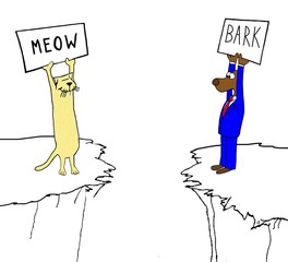Cat and dog have big divide