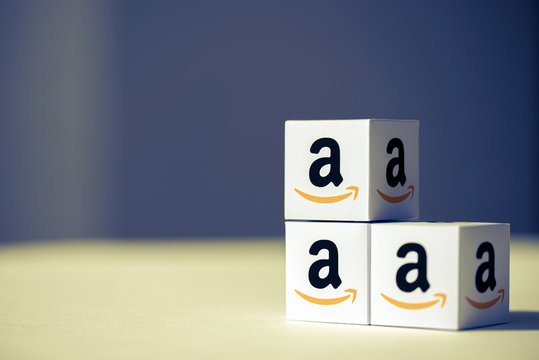 Paper Boxes with Amazon.com Logotypes