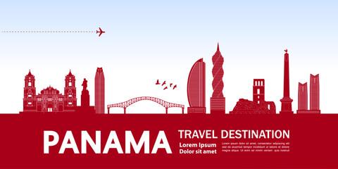 Wall Mural - Panama travel destination grand vector illustration.